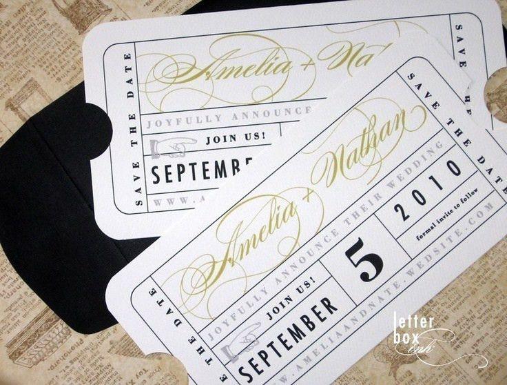 301 best Wedding - Art Deco Gatsby Movie Ticket images on ...