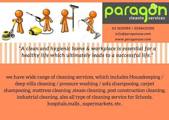 Paragon Cleaning Services, Best Cleaning Services Abudhabi |House ...