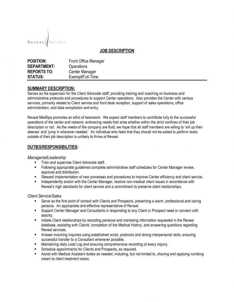 Bunch Ideas of Sample Dental Front Office Cover Letter About ...