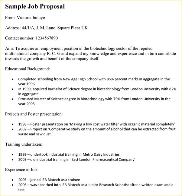 Job proposal sample - Business Proposal Templated - Business ...
