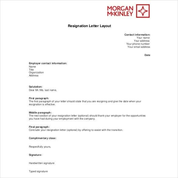 Resignation Letter Template – 28+ Free Word, Excel, PDF Documents ...