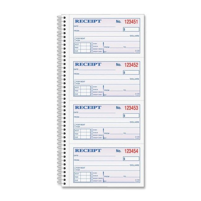 Globe-Weis Wire Bound Money/Rent Receipt Books SC1152 ABFSC1152