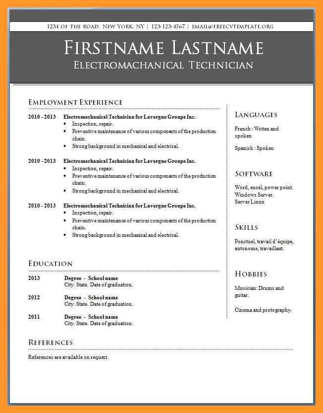 resume template microsoft word 2010 | sop example