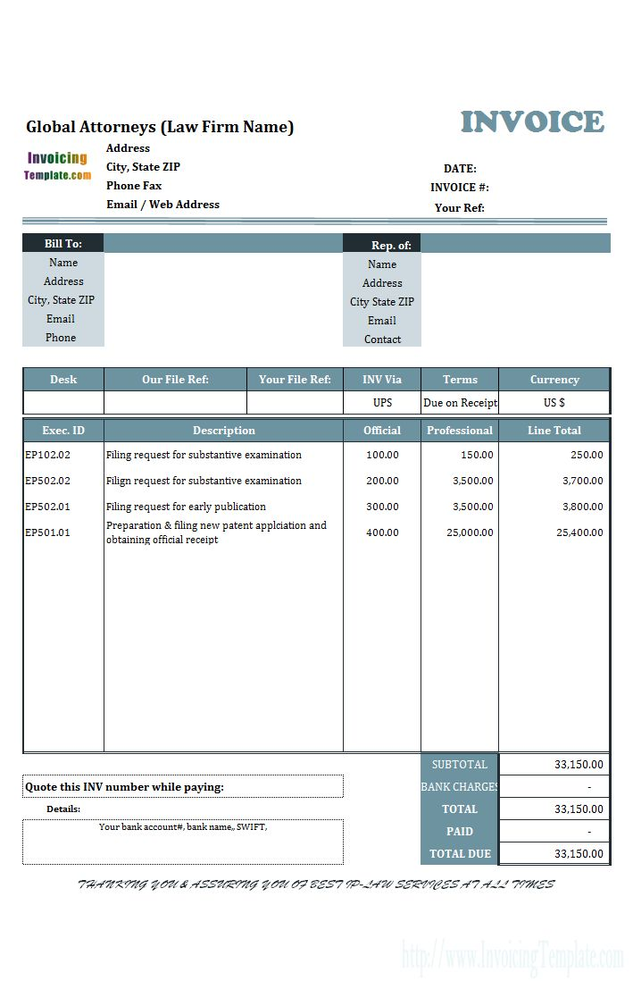 Microsoft Office Invoice Templates Free Download