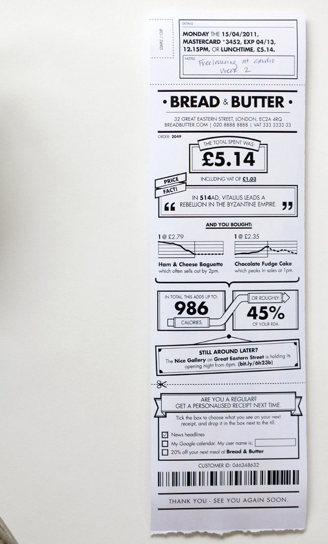 The UI Geniuses At Berg Rethink The Common Receipt | Co.Design