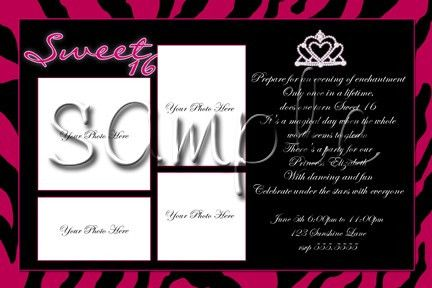 Sweet 16 Birthday Invitations Template | Best Template Collection