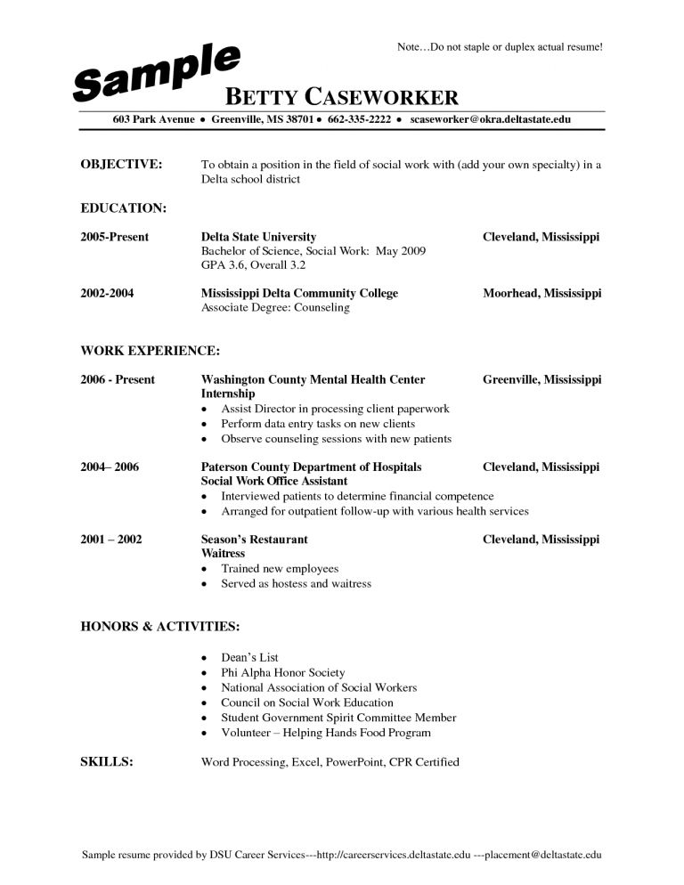 Resume Example For Waiter - Templates