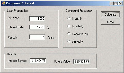 Example Application: The Compound Interest