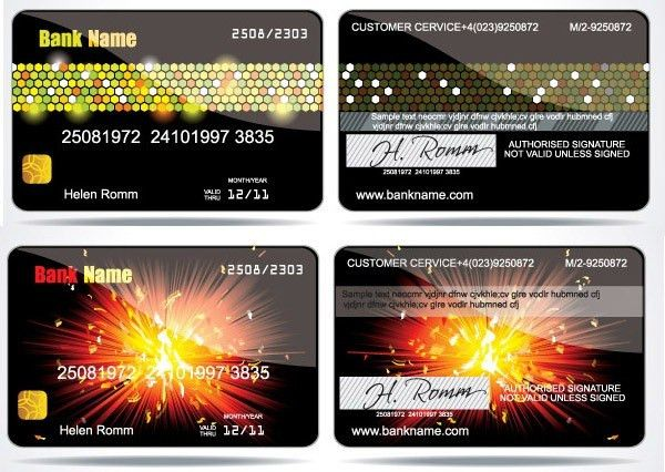 2 sets trends VIP card template – vector material | My Free ...