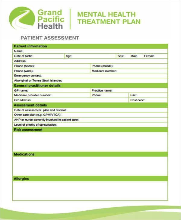 7+ Treatment Plan Template - Free Sample, Example, Format Download