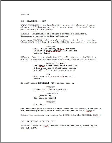 ScriptFaze - How to Format a Screenplay
