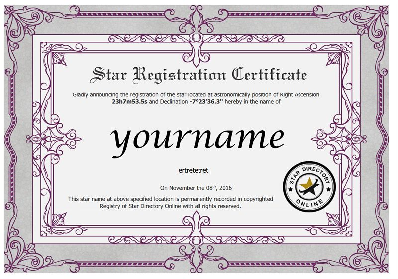 28+ [ Name A Star Certificate Template ] | Naming Certificates ...