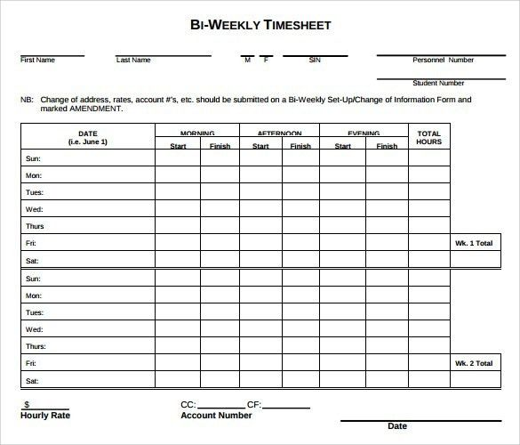 timesheet templet