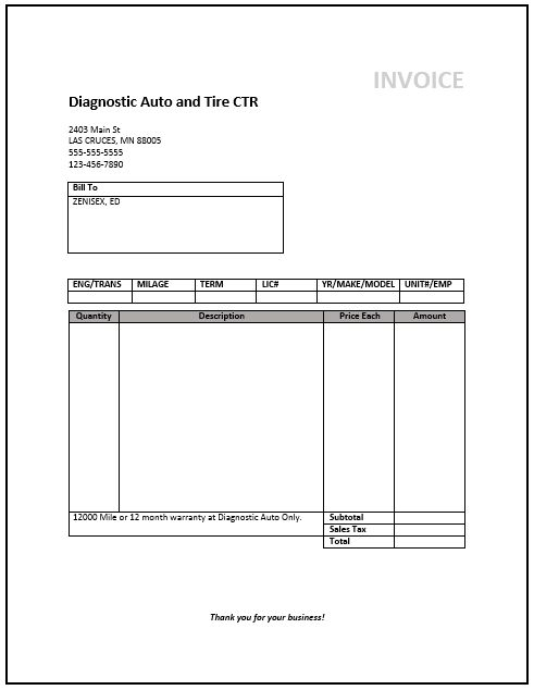 Invoice Template Free Word | printable invoice template