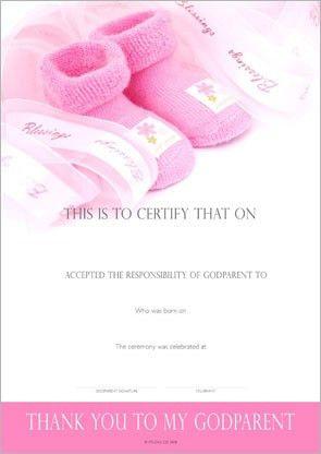 Designer Certificates : Godparent Certificates