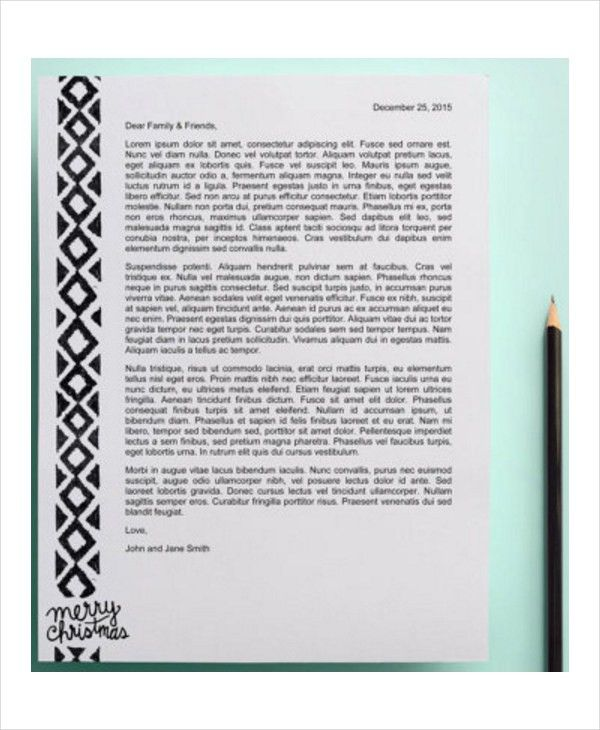 Christmas Letter Template - 9+ Free Word, PDF, PSD Documents ...