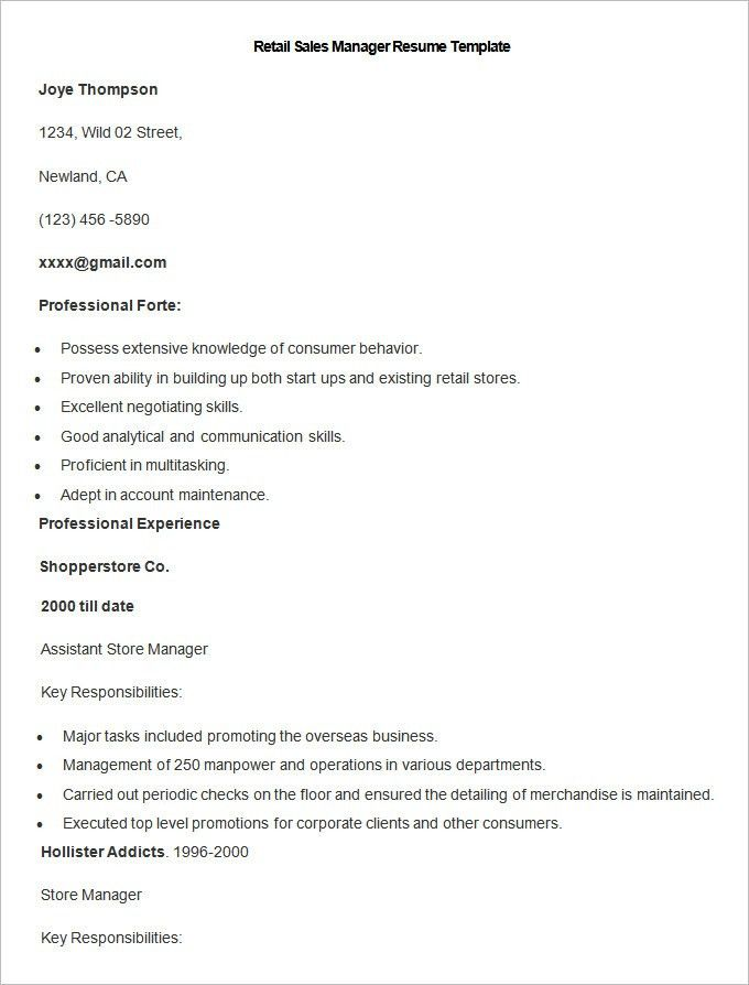 Sales Resume Template – 41+ Free Samples, Examples, Format ...