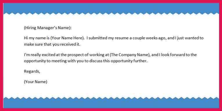 Follow Up Resume. 28 follow up email after sending resume sample ...