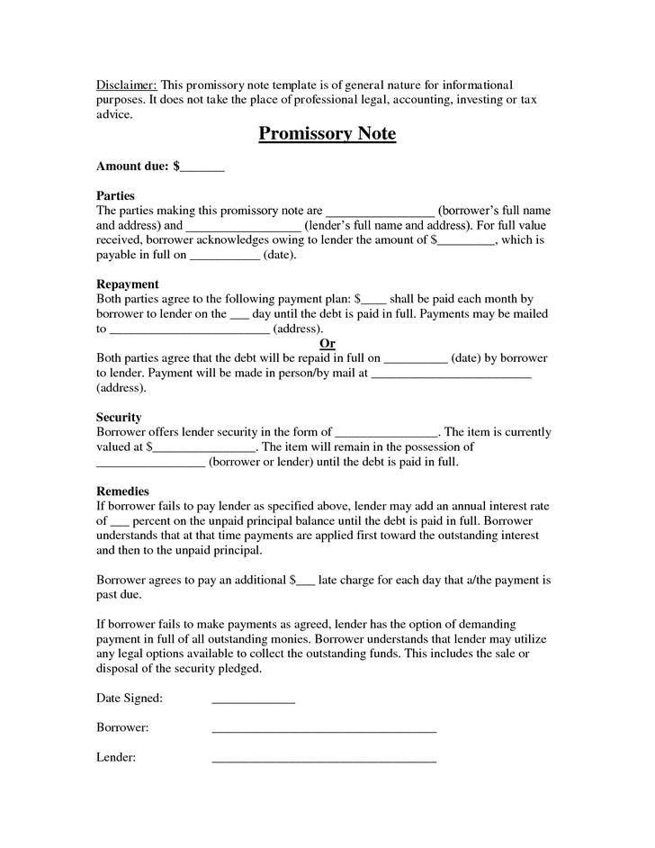 Promissory Note Templates | Download Free & Premium Templates ...