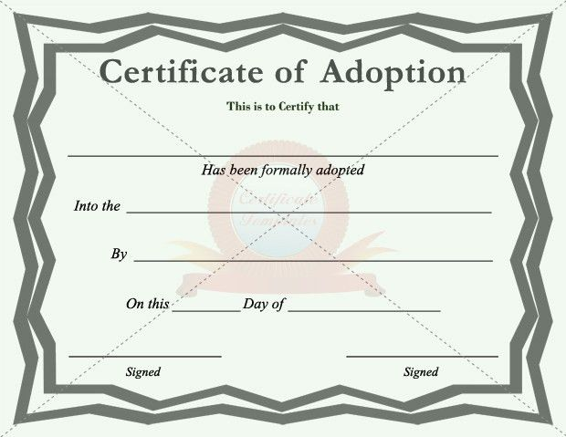 Adoption Certificate | Certificate Template | Pinterest | Adoption ...