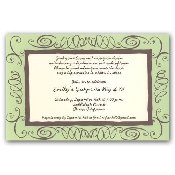 40th Birthday Invitation Wording - cloveranddot.Com