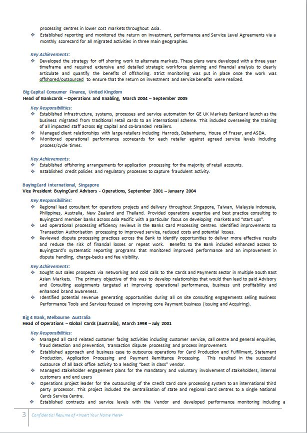 Resume Examples Australia | Professional Resume Example