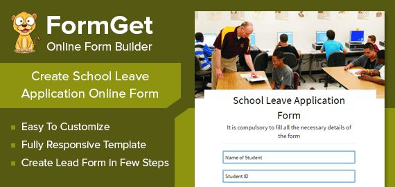 FormGet] - Create School Leave Application Form For Schools ...