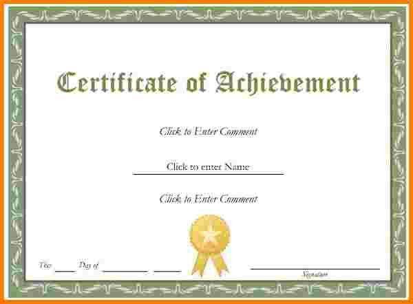 8 certificate template word | Receipt Templates