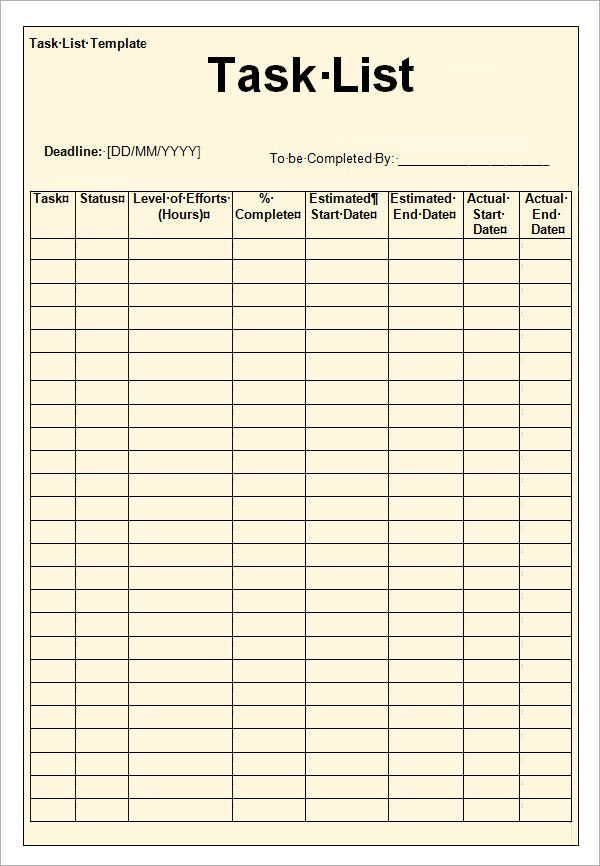 To Do Checklist Template. Choosing The Best To Do List Template ...