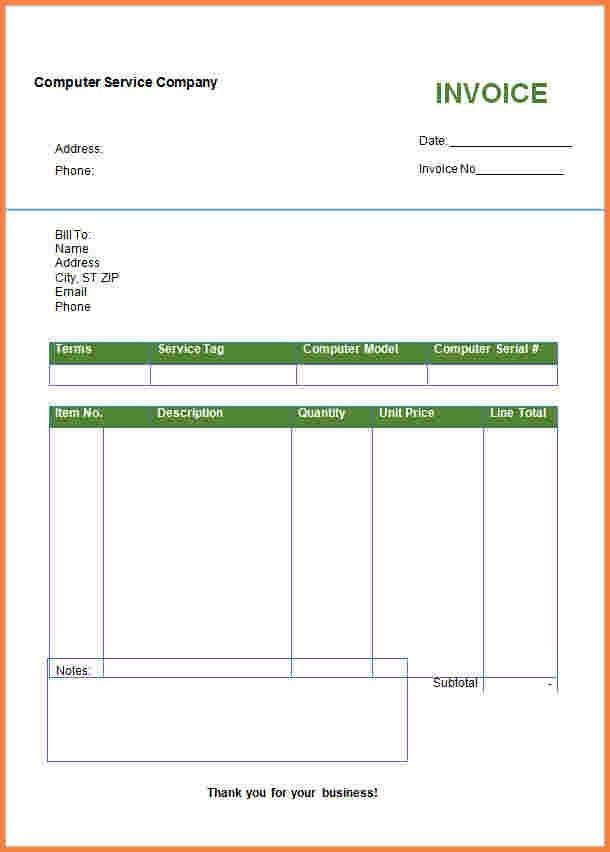10+ download invoice template microsoft word | Invoice Template
