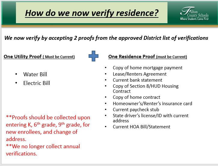 Affidavit of Residency and Residence Verification