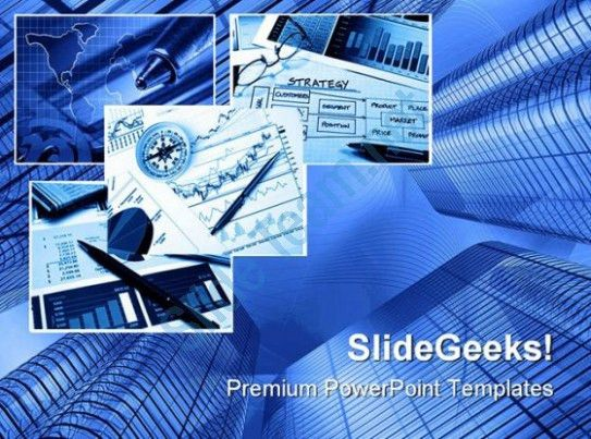 Blue Business Collage Business PowerPoint Templates And PowerPoint ...