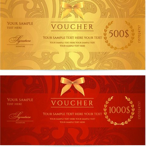 Voucher design free vector download (106 Free vector) for ...