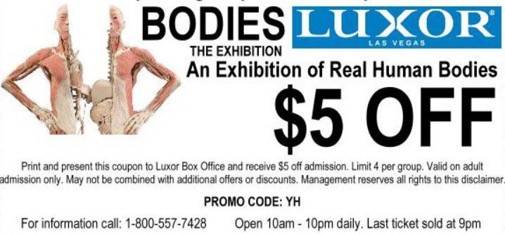 Bodies the Exhibition: $5 Off Admission Coupon - Just Vegas Deals