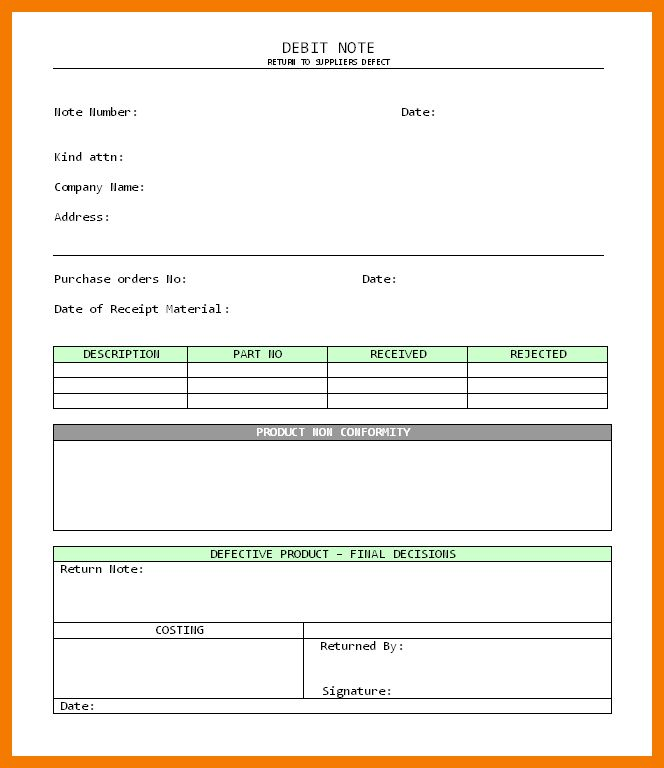 4+ debit note letter format | resume holder
