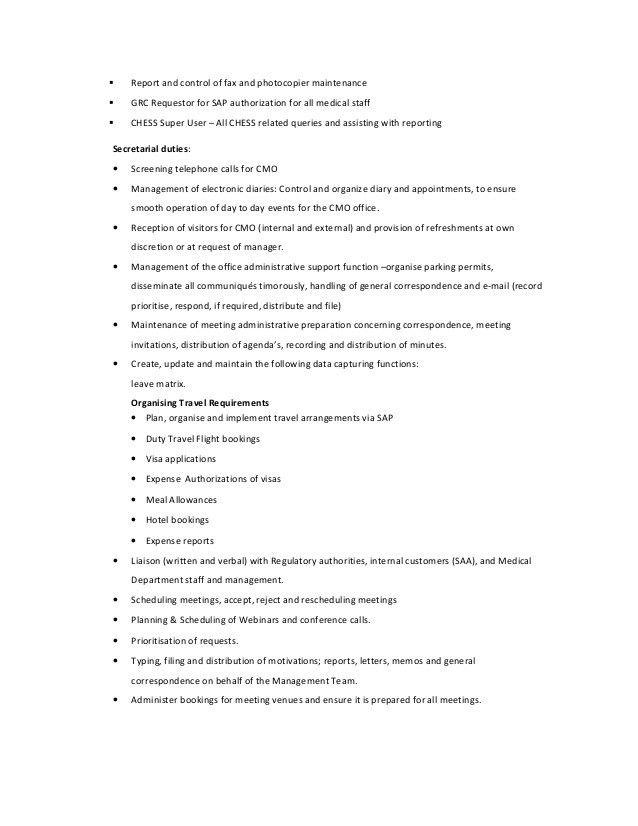 Job description for Medical Administrator.