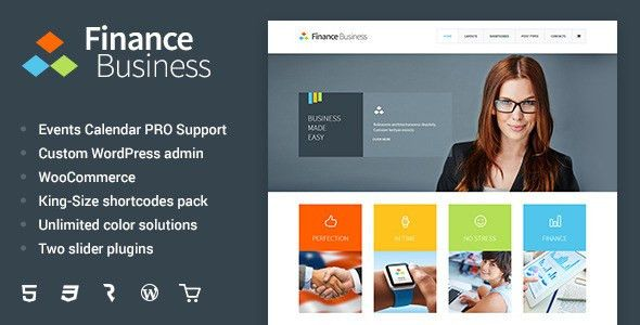 Finance Business - Company Office Corporate Theme by cmsmasters ...