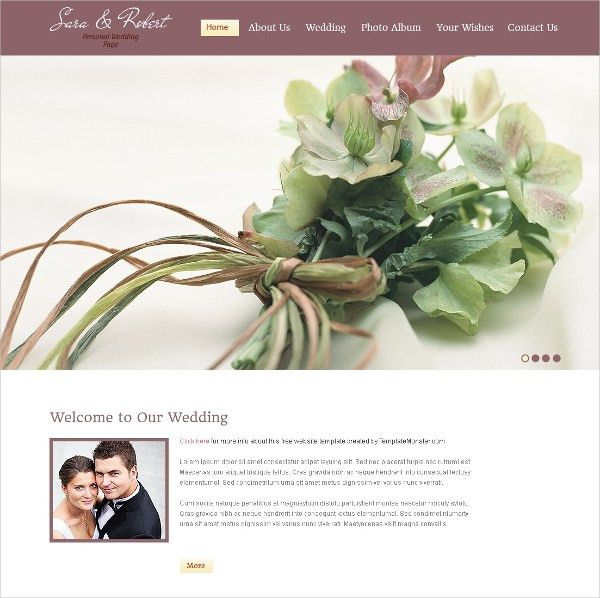 26+ Free Wedding Website Templates & Themes | Free & Premium Templates