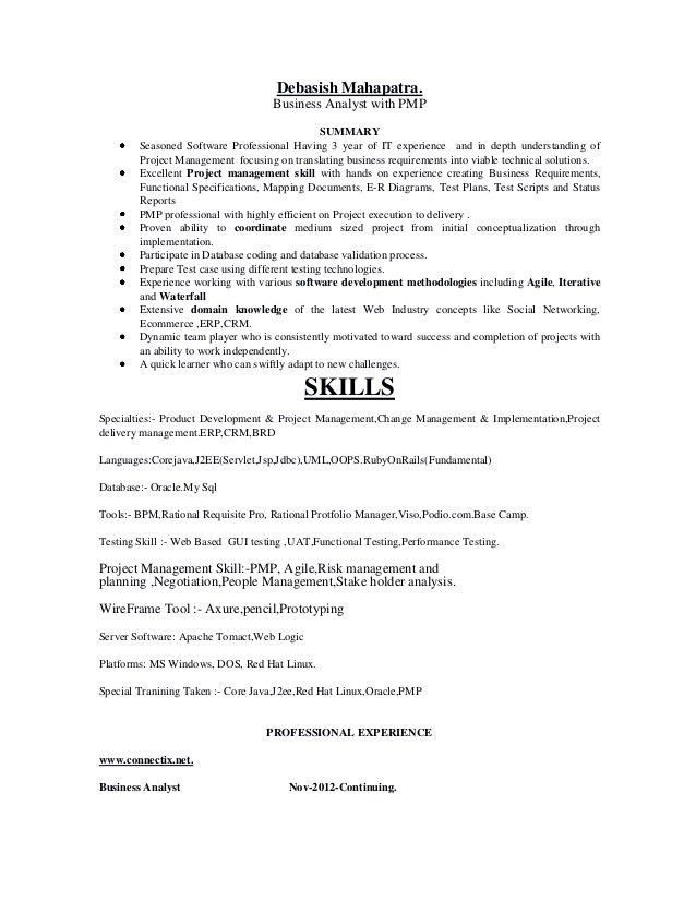 """Business Analyst with PMP"""""""