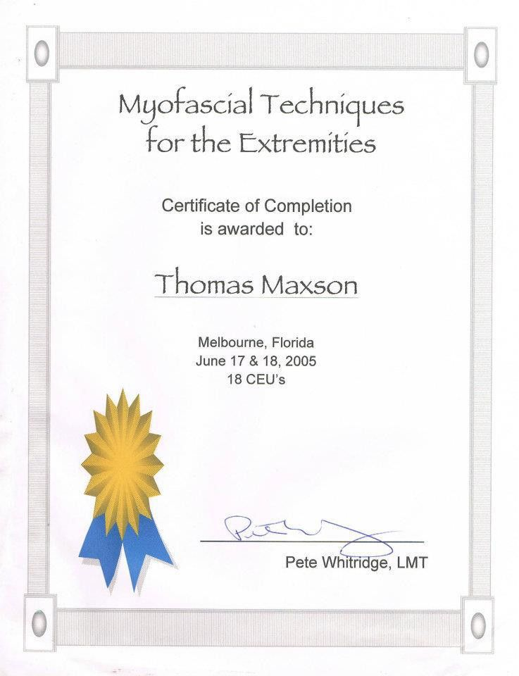 Advanced Massage Training