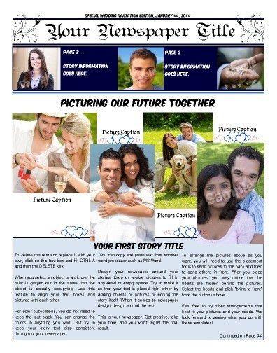 Free Newspaper Templates - Print and Digital | Makemynewspaper.com