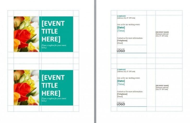 Microsoft Word Postcard Template. make one or two sided postcards ...