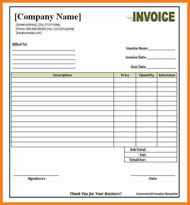 7+ invoice template word document free | ledger paper