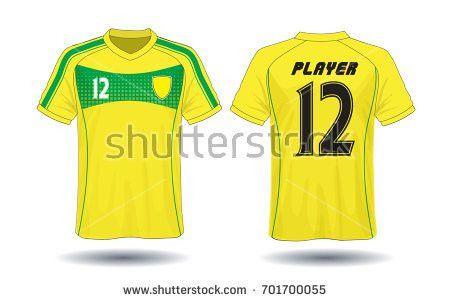 Set Soccer Kit Football Jersey Template Stock Vector 668745514 ...