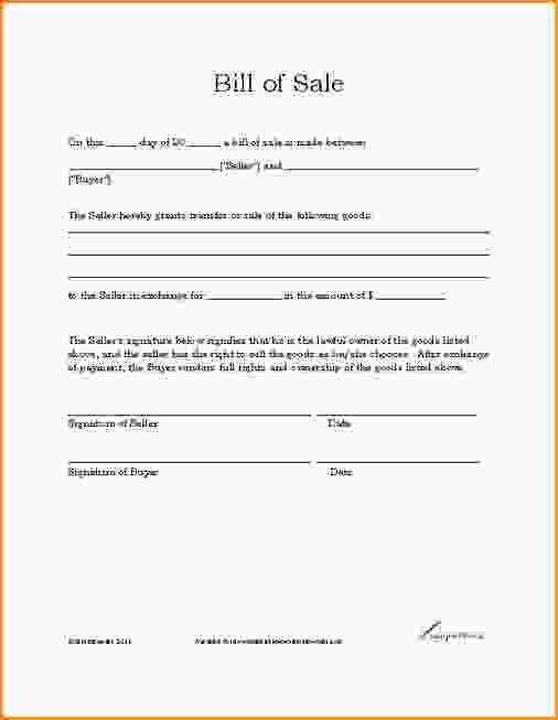 As Is Bill Of Sale Template.vehicle Bill Of Sale Template 925.jpg ...