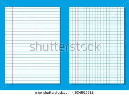Ruled Paper Lined Graph Paper Squares Stock Vector 534665512 ...