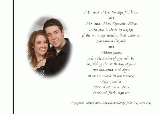 Sample Wedding Invitations Sample Of Wedding Invitation Word And ...