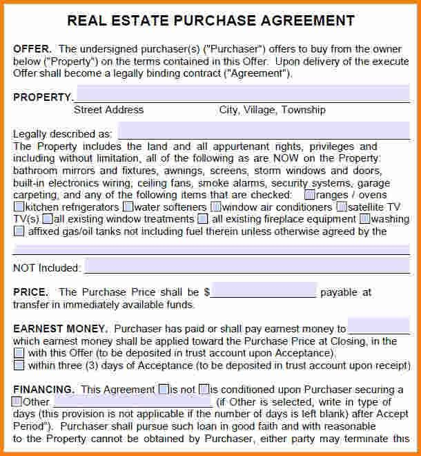 8+ free real estate purchase agreement template | memo templates