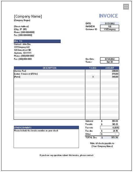 15 best invoices images on Pinterest   Invoice template, Business ...