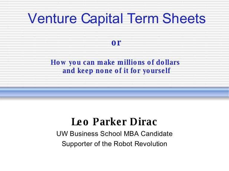 5-minute primer on VC Term Sheets